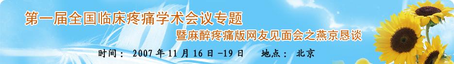 第一届全国临床疼痛学术会议专题暨丁香园疼痛版网友见面会之燕京恳谈